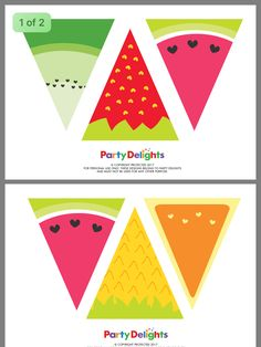 Fruit Birthday, Watermelon Birthday, Frozen Birthday Party, 2nd Birthday Parties, Birthday Party Decorations, Party Favors, Fruit Party, Luau Party, Anniversary Party Games