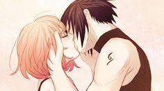 Sasuke Uchiha Sakura Haruno Kiss Sweet Couple Dymx 1440x900