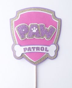 Pink and Purple paw patrol inspired cake topper Sky Paw Patrol, Paw Patrol Party, Paw Patrol Birthday Cake, Birthday Cake Toppers, Pink Birthday, Birthday Party Themes, Paw Patrol Decorations, Paw Patrol Cake Toppers, Cumple Paw Patrol