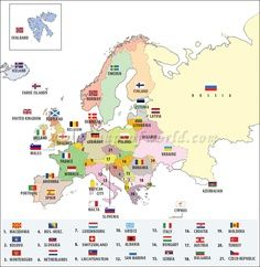 Map Of Europe With Countries Labeled Learn Something New Every Day