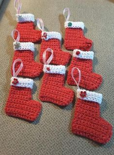 23 Ideas Crochet Christmas Stocking Beginner Knitting For BeginnersKnitting HatCrochet PatternsCrochet Baby Crochet Christmas Stocking Pattern, Crochet Christmas Decorations, Crochet Ornaments, Holiday Crochet, Christmas Knitting, Crochet Gifts, Free Crochet, Christmas Crafts, Crochet Wreath