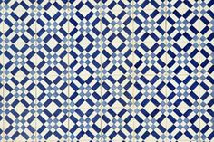 portugese tile with geometric pattern