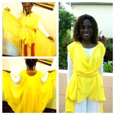Praise Dance Angelic Caped Tunic with Sash (long)