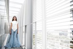 Diseño finalista MFShow by Lab PANDORA. Diseño expuesto en el Museo del Traje de Madrid. #Pandora#pearls#fashion#design#white#photography#charms