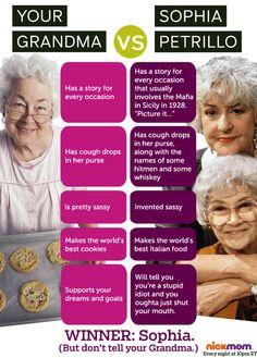 "Your Grandma Vs. Sophia Petrillo Of ""The Golden Girls"""