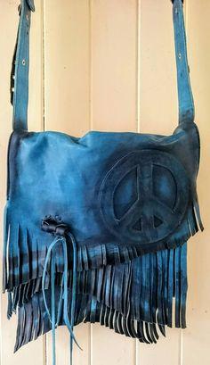 Summertime peace fringed shoulder bag