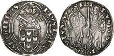 NumisBids: Numismatica Varesi s.a.s. Auction 65, Lot 744 : PIO II (1458-1464) Grosso, Ancona. D/ Stemma R/ I SS. Pietro e...