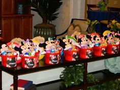 Favors at a Mickey Mouse Playhouse Disney Party #mickeymouse #partyfavors