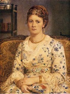 Portrait Of Mrs J.P.Heselitine  Sir Edward John Poynter