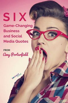 6 Game-Changing Business & Social Media Quotes by Amy Porterfield. Want to read more? Click through and sign up for the brand new masterclass with Amy Porterfield.