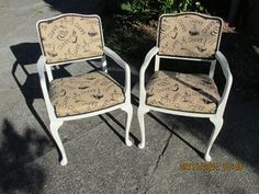 Queen Anne Style Armchairs Restyled & Refreshed