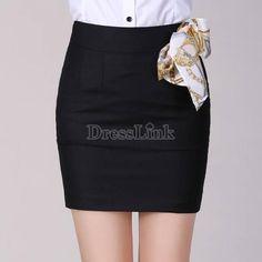 Stylish Womens Slim Fitted Business Bodycon Short Career High Waist Pencil Skirt