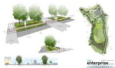 Landscape  Site Plan - Section - Perspective Section