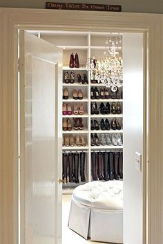 nice closet. I'll take all of the boots please
