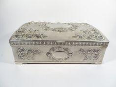Vintage Godinger Silver Plate Jewelry Box  Vintage by PherdsFinds, $38.00
