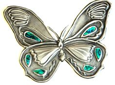 Embellishment Butterfly green inlay for Journal Kindle by Loutul, £12.00
