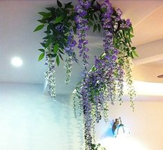 12pcs Lot Artificial 105cm Home Decor Wisteria Silk Flower Holiday Decoration Weddings Events Simulation