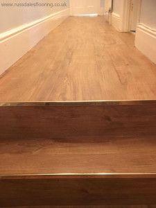 Before & After Amtico Spacia Oak Wood Plank Floor Amtico Spacia, Amtico Flooring, Wood Plank Flooring, Wood Planks, Hardwood Floors, Stairs, Hallways, Kitchen Ideas, Boden