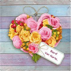 Design: Fastcards www.fastcards.nl - van harte bloemen hart