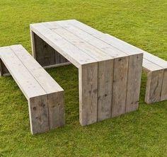Die 20 Besten Bilder Von Holzbänke Holztische Backyard Patio