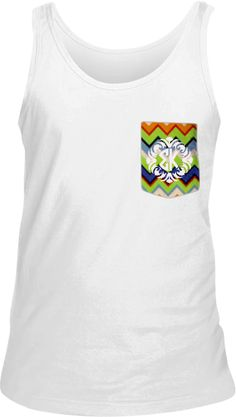 Sigma Kappa #chevron #pockettank www.adamblockdesign.com