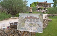 Art lessons are an option at this charming historic hotel in Tuscany