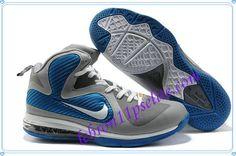85a19f204da4 Cheap Nike Lebron 9 Shoes Grey Blue