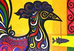 A Sarimanok is a magical, mythical bird who brings good luck to anyone who are able to catch it. A Sarimanok known as Magaul is associated with the legend of Malakas and Maganda. Magaul was the Sarimanok bird that pecked the bamboo from where Malakas and Maganda were born from.