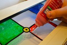 Keep Calm and Craft On: My Experience with Gallery Glass to Paint Faux Stained Glass Windows
