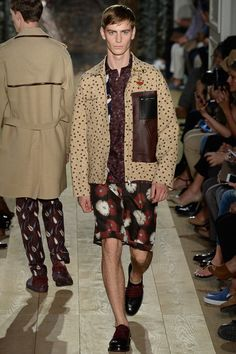 S2015MEN-VALENTINO Embroidered butterflies, beasts of field and forest, flowers like a starburst of fireworks #symbolist Odilon Redon's deadly blooms #pajama-like silhouettes.