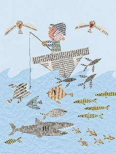 newspaper-fish2 Stella Baggott