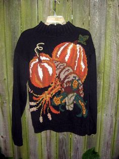 vintage 80s Chunky Harvest Halloween Thanksgiving by TymeAfterTyme, $29.00