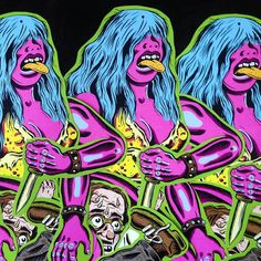 Only a couple pink women left, let a savage neon woman into your life