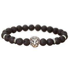 2017 Lion Head Natural Stone Charm Beads Bracelets Bangle For Men Women Party Wedding Fashion Jewelry Stone Bracelet Men #Affiliate