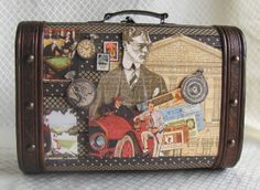 Altered Father's Day Suitcase