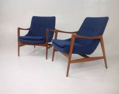 Clays Mid century modern lounge chairs in the style of Ib Kofod-Larsen Lounge Chairs