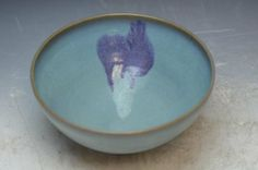 Chinese Junyao Glaze Porcelain Bowl D: 9 Inches