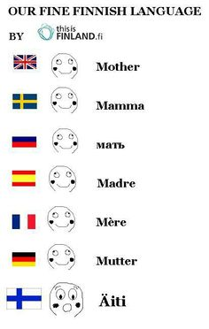 Finnish is not an Indo-European language. Neither is closely related Estonian, nor Hungarian and Basque. Funny Facts, Funny Memes, Jokes, Dankest Memes, Finnish Memes, Meanwhile In Finland, Learn Finnish, Finnish Words, Finnish Language