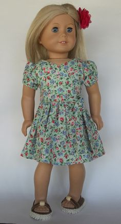 Hey, I found this really awesome Etsy listing at https://www.etsy.com/listing/270644468/ag-doll18-in-doll-clothes-green-floral