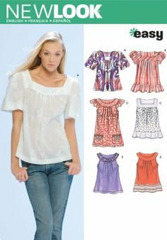 New Look Sewing Pattern 6705 Misses Tops, Size A (8-10-12-14-16-18) #ArtsAndCrafts