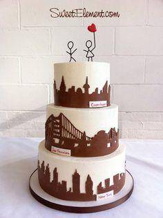 New York Wedding Cakes On Pinterest New York Cake Wedding Cakes And