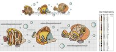 Pesci animali baby punto croce