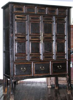Shanxi Cupboard, Early 1700s | From a unique collection of antique and modern cupboards at https://www.1stdibs.com/furniture/storage-case-pieces/cupboards/