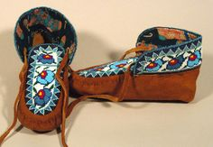Beaded Moccasins 7 - Beaded Moccasins, First Nations, Leather Working, Native American, Infant, Footwear, Clothing, Crafts, Accessories