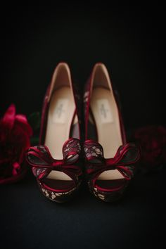 This Deep And Luxurious Wedding Ideas shoot incorporates the dark tones of fall and winter, with rich hues of marsala, brass and copper. Luxury Wedding, Wedding Bride, Wedding Shoes, Wedding Ideas, Bride Shoes, Loafers, Elegant, Gay, Deep