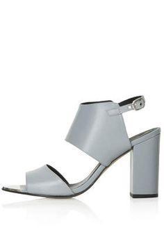 Raff metal toe sandals in nude from Topshop