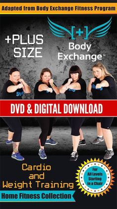 PLUS SIZE FITNESS: Body Exchange Cardio & Weight Training Home Fitness DVD & Digital Download
