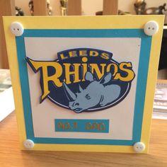 Rhinos Father's Day card