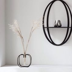 Halo is a beautiful three-dimensional shelf Vase, Three Dimensional, Floating Nightstand, Shelves, Mirror, Interior, Instagram Posts, Furniture, Beautiful