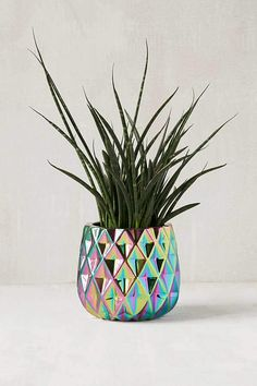 Geo Iridescent Planter